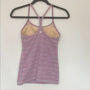Lululemon Power Y Workout Tank Muted Mauve…